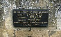 Levellers memorial